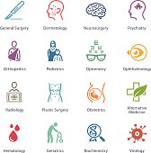 This set contains Medical & Health Care Icons that can be used for designing and developing websites, as well as printed materials and presentations.