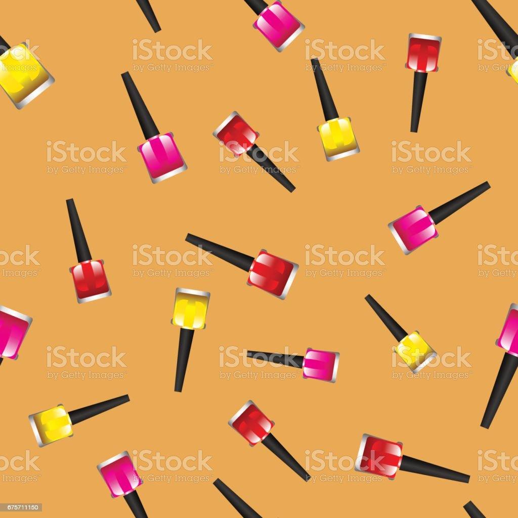 有色的指甲油 Polsh 無縫模式 免版稅 有色的指甲油 polsh 無縫模式 向量插圖及更多 人體部分 圖片