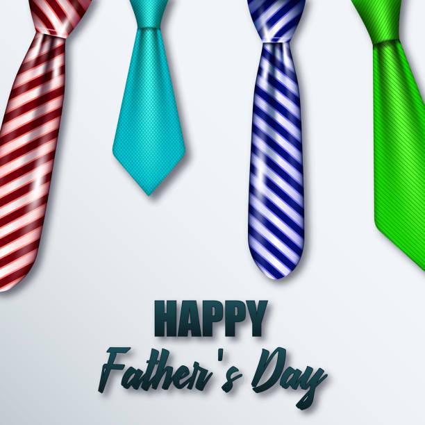 farbige Krawatten für den Tag seines Vaters – Vektorgrafik