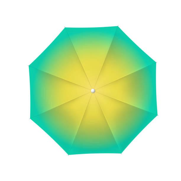illustrazioni stock, clip art, cartoni animati e icone di tendenza di colored open umbrella - mockup outdoor rain