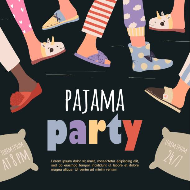 Adult pajama party clip art