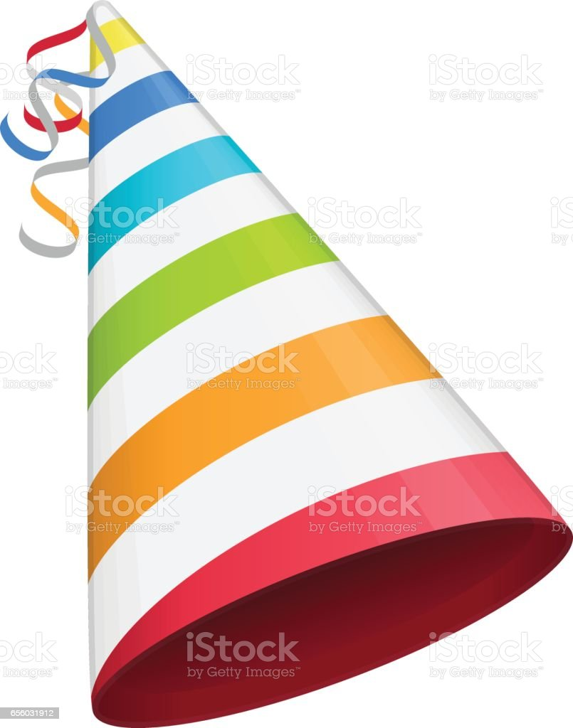 Colored party hat. vector art illustration
