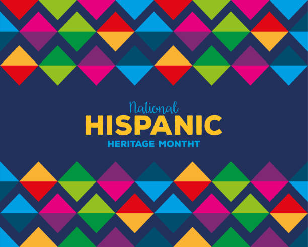 colored pattern background of national hispanic heritage month vector design colored pattern background design, national hispanic heritage month and culture theme Vector illustration hispanic heritage month stock illustrations