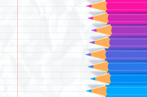 Colored Pencil Paper Background