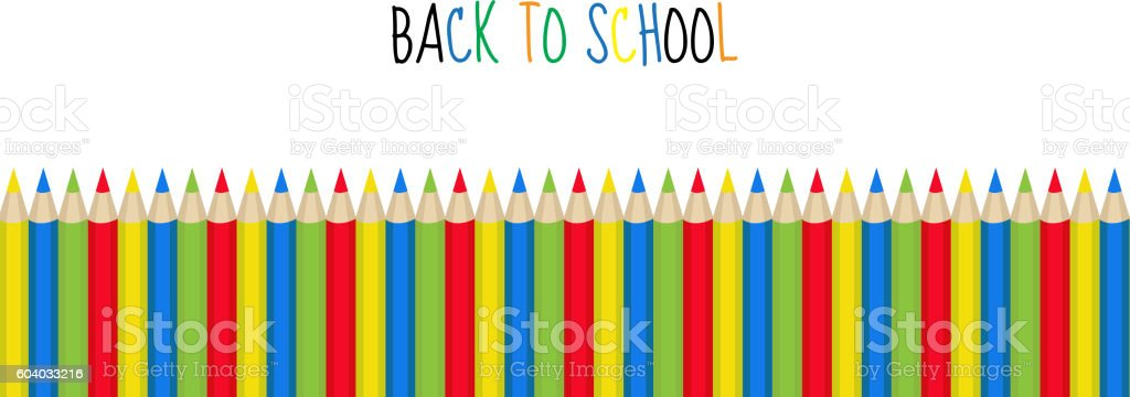 52aead819e89 Colored Pencils Frame For Text Back To School Frame Invitation Stock ...