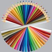 Colored Pencils or Crayons vector