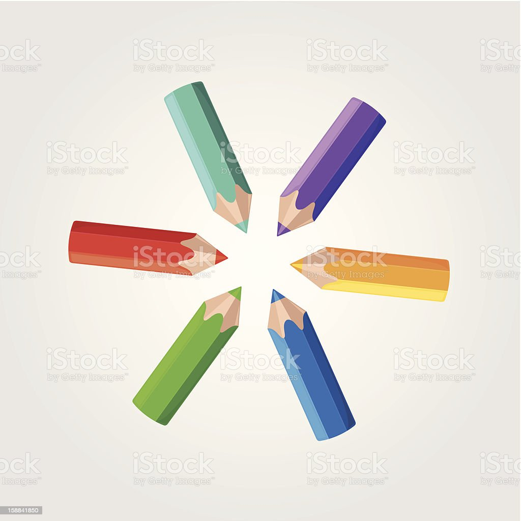 colored pencils royalty-free stock vector art