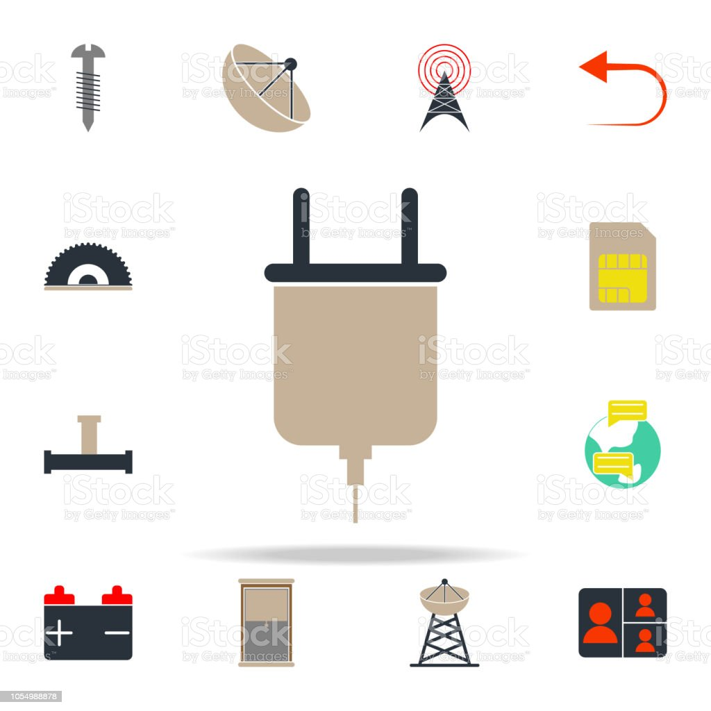 colored plug icon. web icons universal set for web and mobile vector art illustration