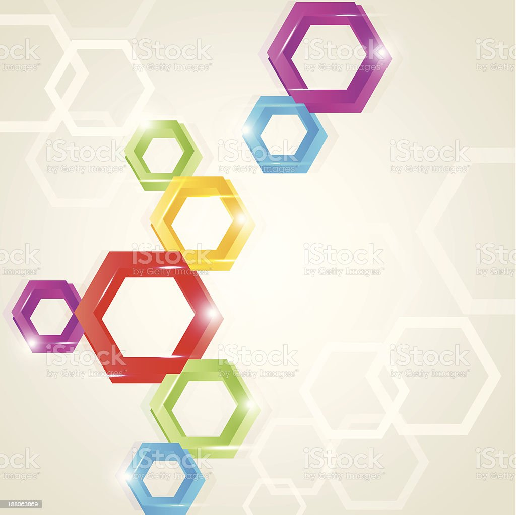 colored polygon shape background vector art illustration