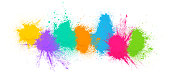 Abstract paint powder background for Holi Celebrations