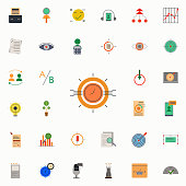 colored programmatic buying icon. marketing and business and digital marketing icons universal set for web and mobile on colored background
