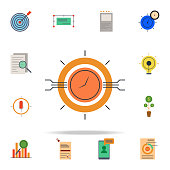 colored programmatic buying icon. marketing icons universal set for web and mobile on white background
