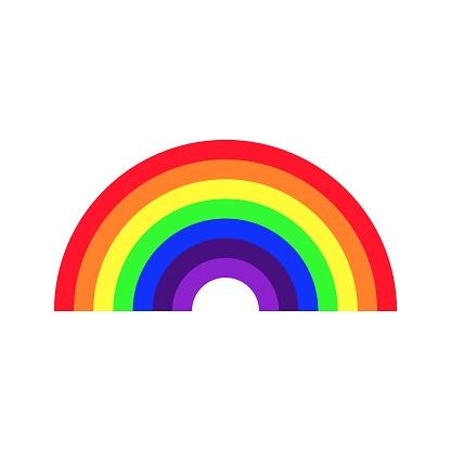Colored Rainbow vector icon. Homosexual minority, LGBT concept image.
