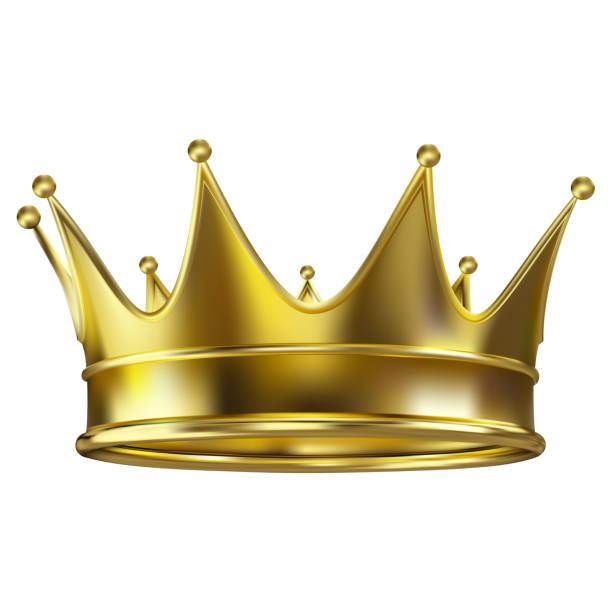 金色的寫實皇家皇冠 - 皇冠 頭飾 幅插畫檔、美工圖案、卡通及圖標