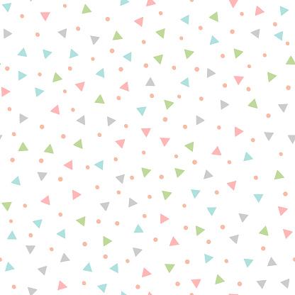 Farbige Nahtlose Muster Mit Sich Wiederholenden Dreiecke Und Runden Flecken Von Hand Gezeichnet Stock Vektor Art und mehr Bilder von Abstrakt