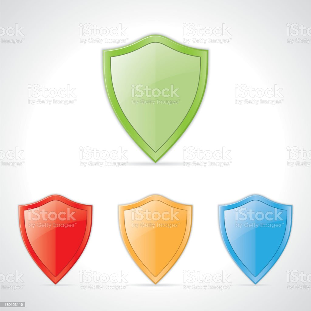 colored shields royalty-free stock vector art