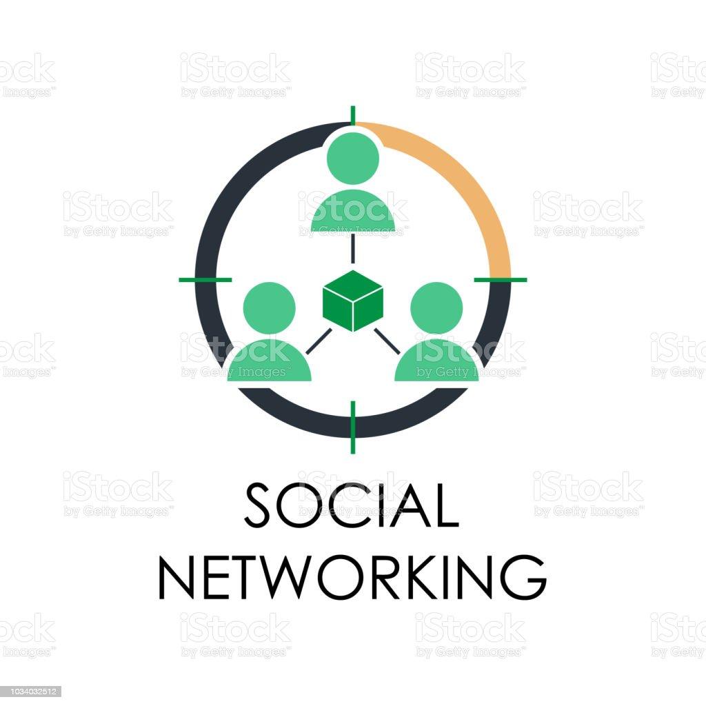 da65ffcb84f6 ilustração colorida de rede social. Elemento do plano de marketing e  negócio para móveis conceito