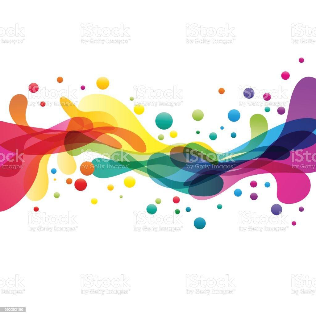 Des touches de couleur abstrait forme des touches de couleur abstrait forme vecteurs libres de droits et plus d'images vectorielles de abstrait libre de droits