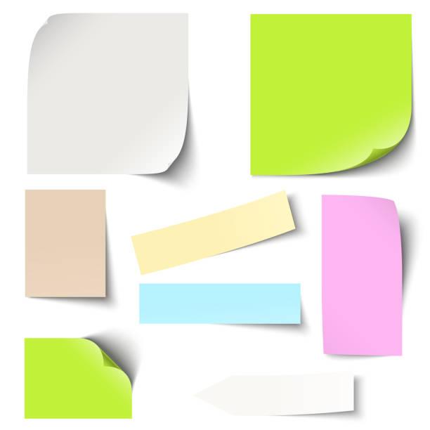 цветные для заметок collection - post it notes stock illustrations