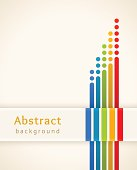 Colored stripes with circles. Design template.
