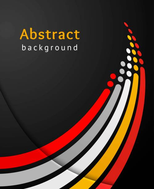 colored stripes with circles over black background. retro vector backdrop. design template. abstract lines directed upwards. - motion stock illustrations