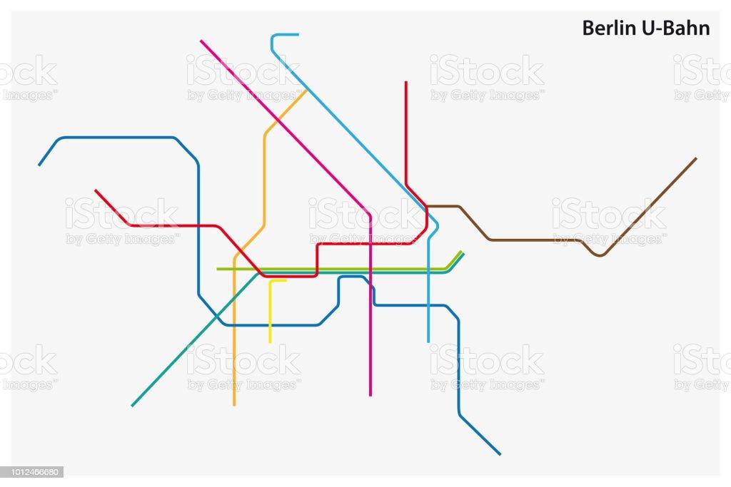 carte de couleur de métro de Berlin, Allemagne - clipart vectoriel de Abstrait libre de droits