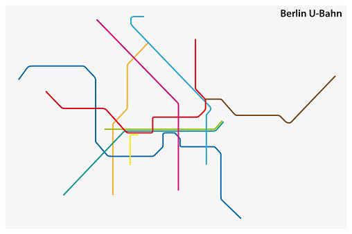 Carte De Couleur De Métro De Berlin Allemagne Vecteurs libres de droits et plus d'images vectorielles de Abstrait