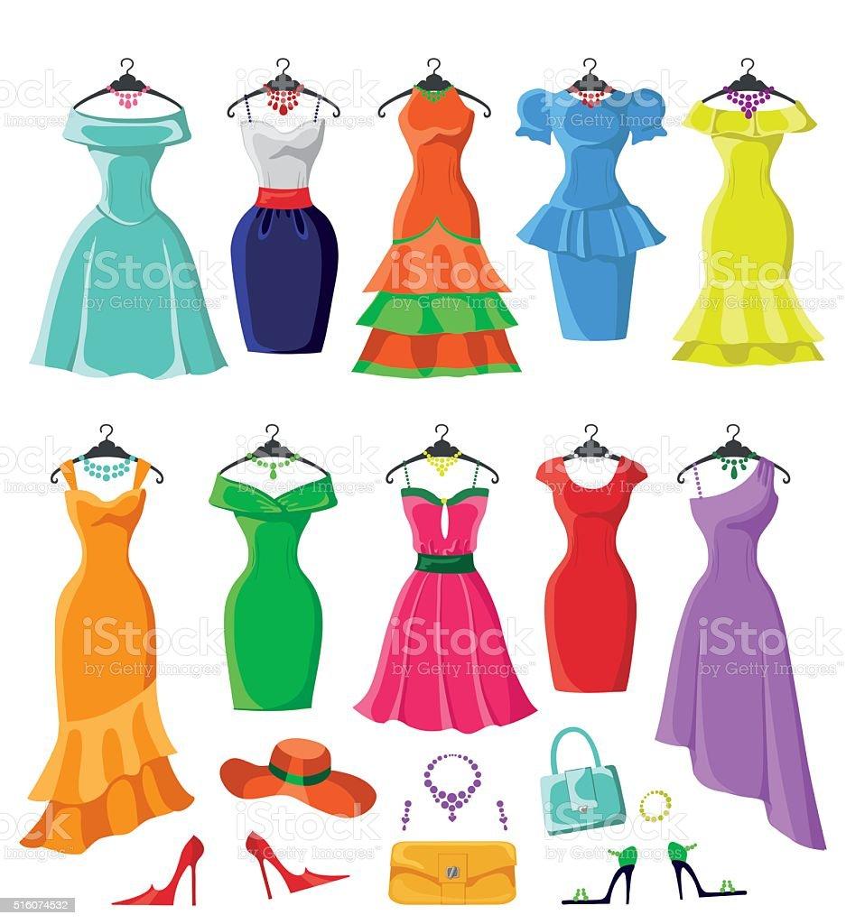 royalty free summer dress clip art vector images illustrations rh istockphoto com dresser clipart dress clip art