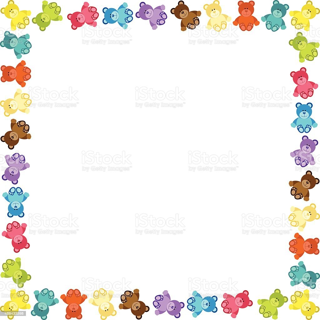 Colored Teddy Bear Frame Stock Vector Art & More Images of 2015 ...