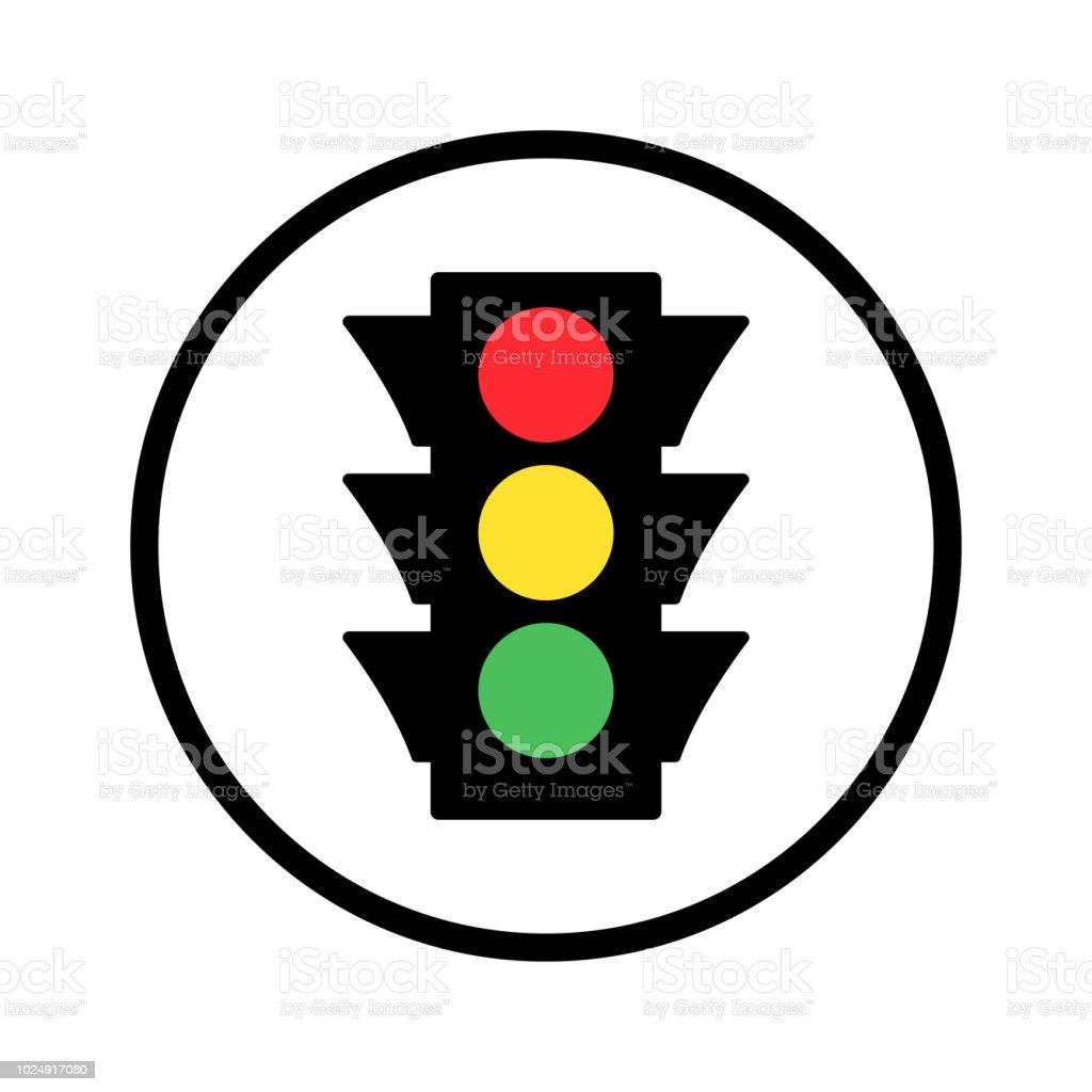Colores semáforo redondo icono. Ilustración de vector - ilustración de arte vectorial