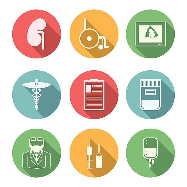 ilustrações de stock, clip art, desenhos animados e ícones de colorido vetor ícones para nephrology - diálise