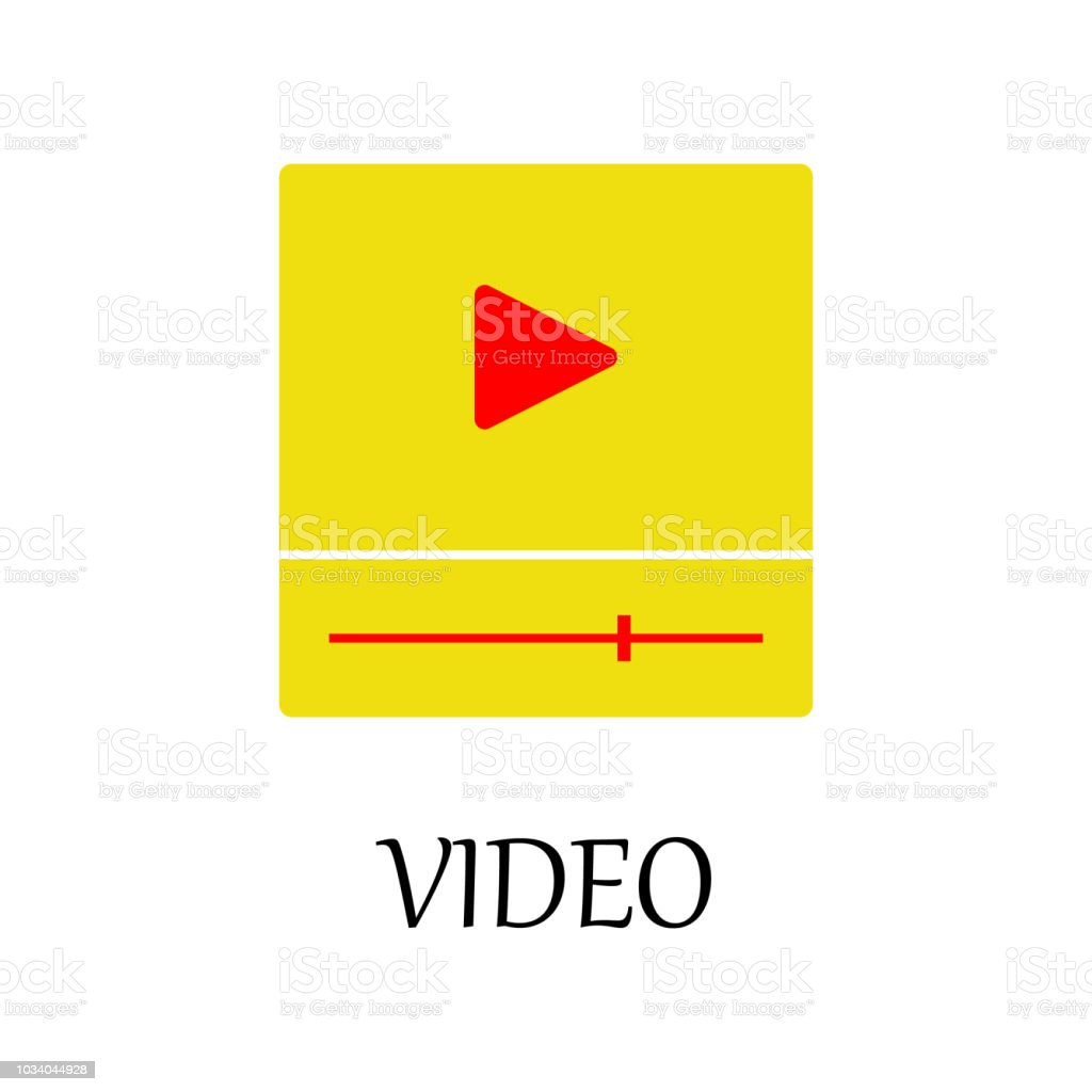 Colored Video Player Icon Element Of Web Icon For Mobile