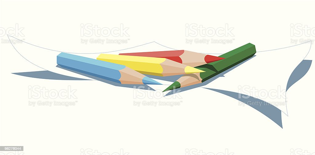 Colored wooden pencils royalty-free colored wooden pencils stock vector art & more images of art