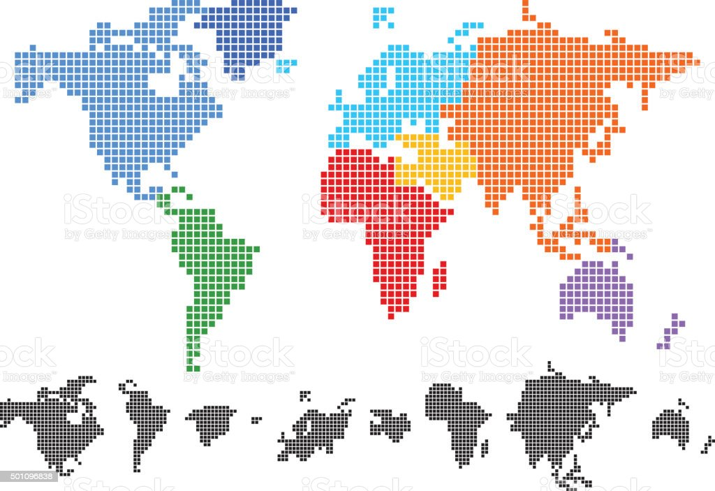 Colored world map made from square stock vector art more images of colored world map made from square royalty free colored world map made from square stock gumiabroncs Image collections