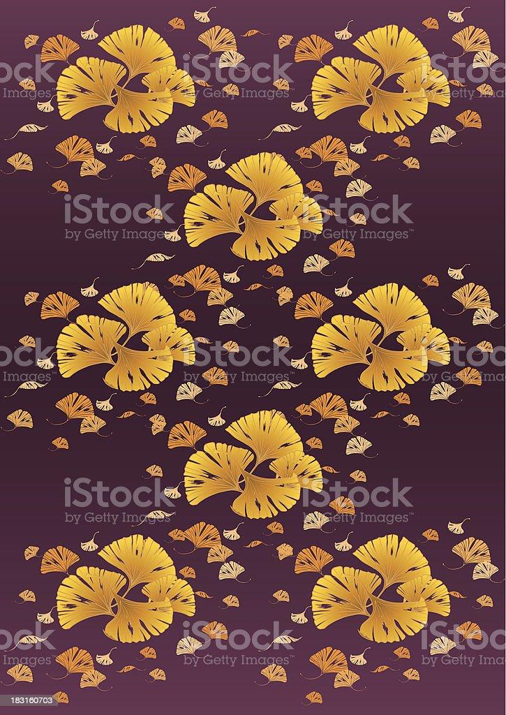 ColoredLeaves_GinkgoDesign_02 royalty-free coloredleavesginkgodesign02 stock vector art & more images of autumn