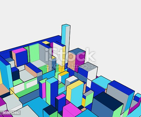 926309124istockphoto colorful 3D building model 958612442