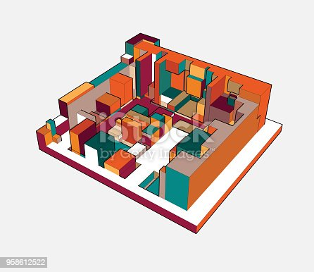926309124istockphoto colorful 3D building model 958612522