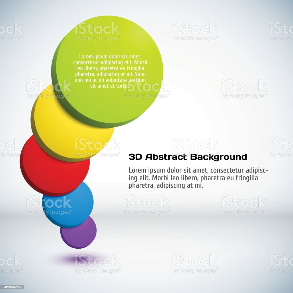 Colorful 3D circle background. royalty-free stock vector art