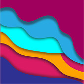 Colorful 3D papercut background