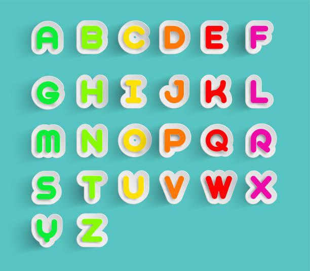 剪紙風格中的 x y x z 文本的彩色 a b c d e f g h l m - weihnachten 幅插畫檔、美工圖案、卡通及圖標