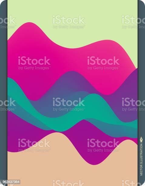 Kolorowe Abstrakcyjne Tło Efekt Dynamiczny Futurystyczny Styl Technologii Ilustracja Wektorowa Ruchu - Stockowe grafiki wektorowe i więcej obrazów Różowy