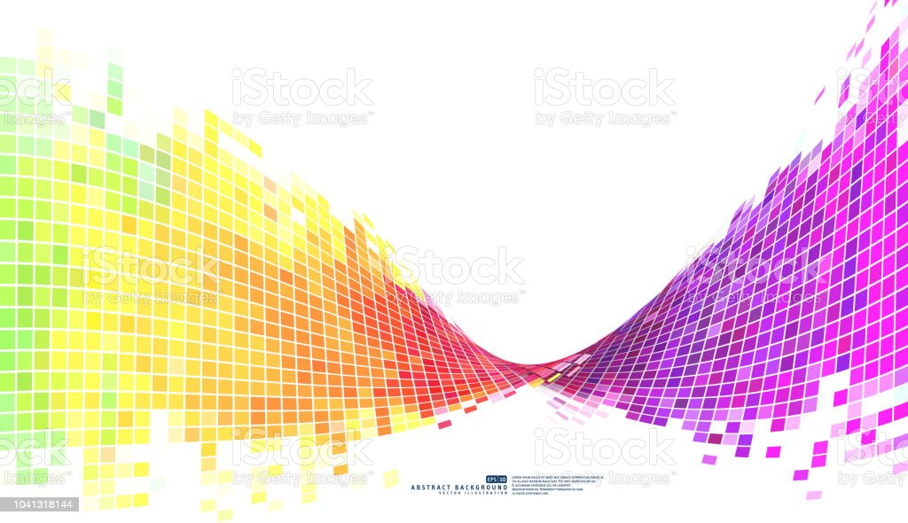 Colorful Abstract Background Mosaic Pixels Stock Illustration Download Image Now