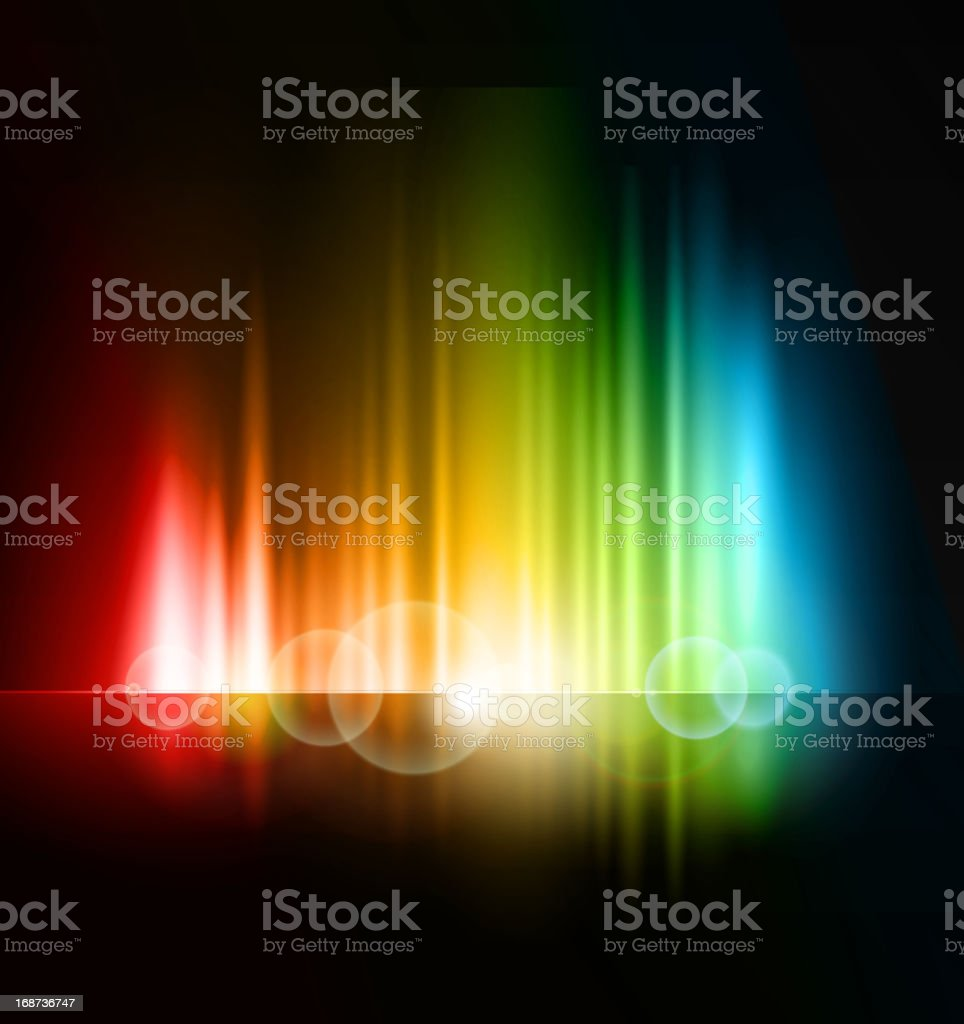 Colorful abstract background on black royalty-free colorful abstract background on black stock vector art & more images of abstract