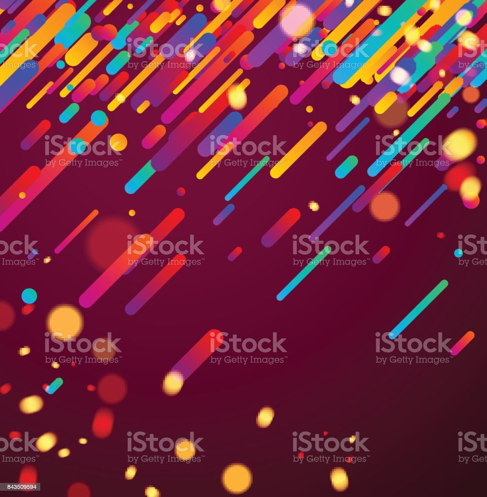 Colorful abstract background on pink. vector art illustration