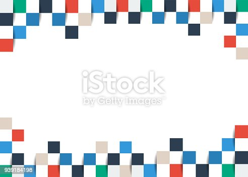 istock Colorful abstract background. Square, box, pixel, paper art. 939184198