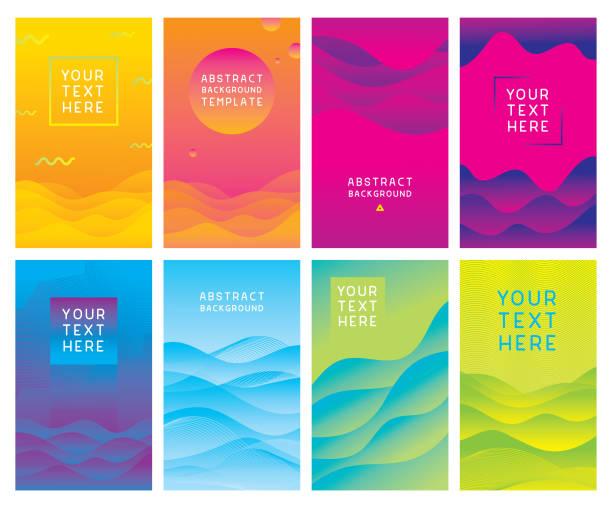 다채로운 추상적인 배경 템플릿 - 세로 구도 stock illustrations