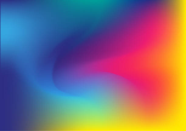 colorful abstract background - tęcza stock illustrations
