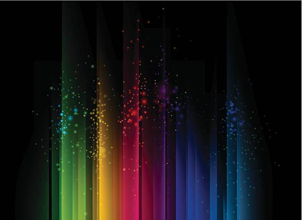 bildbanksillustrationer, clip art samt tecknat material och ikoner med colorful abstract background with streams of light - spektrum