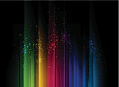 Colorful abstract background with streams of light