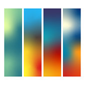 Vector illustration of a set of colorful abstract backgrounds